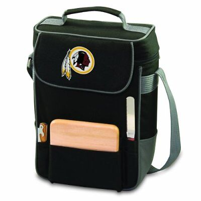 NFL Washington Redskins Duet Insulated 2-Bottle Wine and Cheese Tote, Black