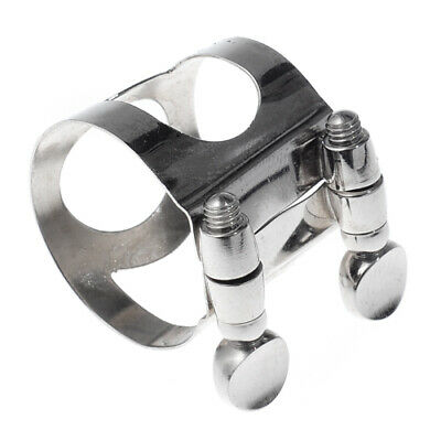 Sax Alto Saxopnone Mouthpiece Ligature Nickel Metal Sax Parts