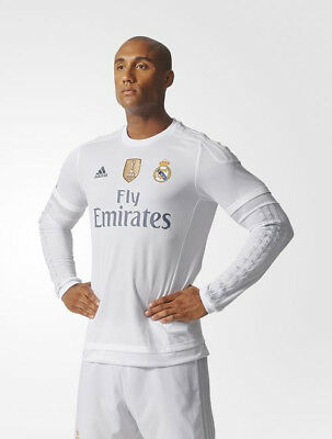 Real Madrid Adidas Maglia Calcio Football Shirt maniche lunghe 2015 16 Home