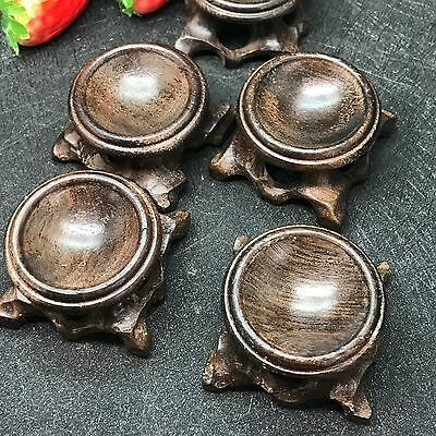 1pcs-Black branch wood crystal ball base Qishi Decoration solid wood base