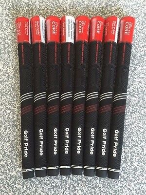 GOLF PRIDE CP2 PRO GOLF GRIPS Colour BLACK/RED Inc TAPE & INSTRUCTIONS x 8 NEW