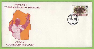 Swaziland 1988 Papal Visit to Swaziland commemorative cover