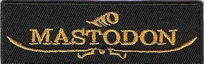 small patch embroidered / petit écusson thermocollant Mastodon
