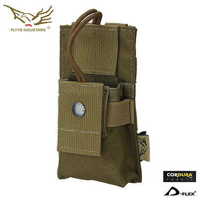 Flyye Short Radio Pouch Molle Pouch Bag Camo Airsoft Combat Paintball Gear C009