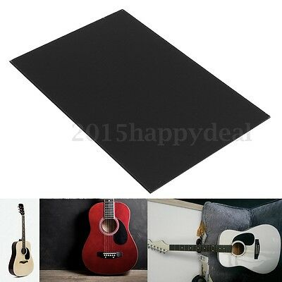 Black Bass Pickguard Blank Sheet Scratch Plate 1 Ply for Acoustic Guitar UK