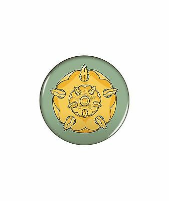"""Game of Thrones New * Tyrell Sigil Magnet * 2.25"""" Round Metal Button GOT HBO"""