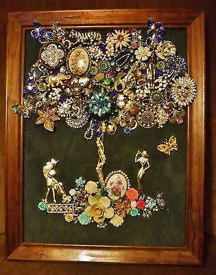 Jewelry Art Tree of Life, full of animals, flower, Truly Unique & One of a kind