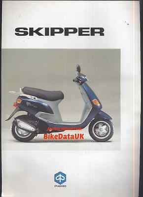 "Genuine Piaggio 125 Skipper (1993-onwards) Dealership Sales Brochure ""Soiled"""