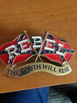 mans belt buckle american rebel the south will rise