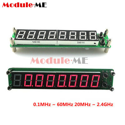 8-bit 0.1-60MHz 20MHz ~ 2.4GHz RF Signal Frequency Counter Cymometer Tester MO