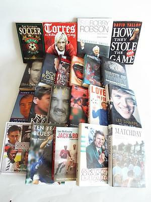 x21 FOOTBAL PLAYER MANAGER SPORT AUTOBIOGRAPHY STORY BOOK  JOBLOT No3 EXCELLENT