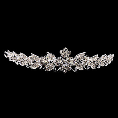 Bridal Rhinestone Crystal Prom Floral Wedding Tiara Crown With Hair Comb