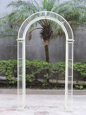 Outdoor Garden Arch Patio Entrance Climbing Plants Pathway Archway Pastel Green
