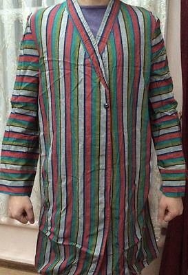Antique Uzbek Vintage National Silk Robe Bekasam Chapan 55551