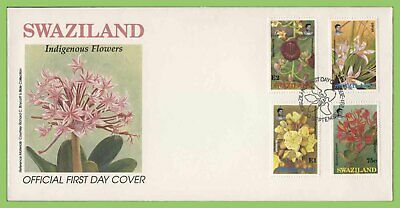 Swaziland 1991 Indigenous Flowers set on First Day Cover