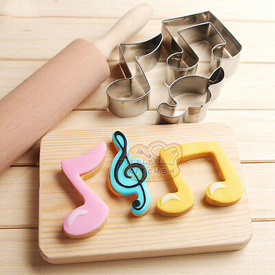 Stainless Steel Music Note Biscuit Pastry Cookie Cutter Cake Decor Mold DIY