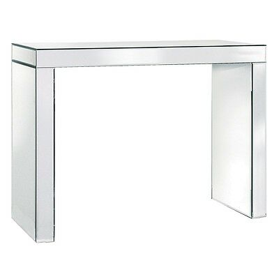 Modern Contemporary Sleek Mirrored Glass Plain Console Table
