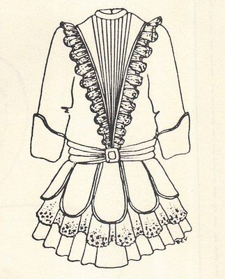 "Period Dress outfit French German Victorian PATTERN for  20"" 21"" Doll clothes 61"