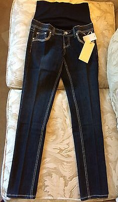 Tala Maternity Bootcut OverBelly Flap Pocket Embellished Denim Jeans Small S NWT