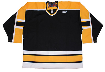 Pro hockey jerseys - Black, Yellow & White (BOSTON)