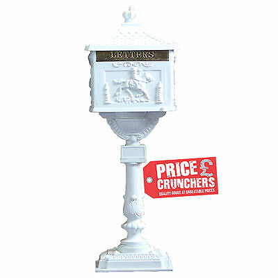 White Wedding Post Box Letter Box Mailbox Free Standing Antique VICTORIAN Style