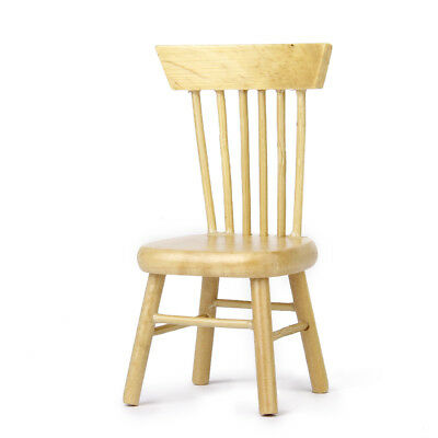 1/12 Scale Dolls House Miniature Wooden Chair Kitchen Dining Room Furniture