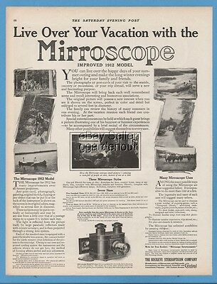 1911 Mirroscope Lantern Projector Buckeye Stereopticon Cleveland OH print Ad