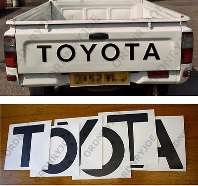TOYOTA pick-up tailgate decal, RAISED LETTER version, 1988-2005