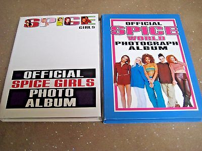 SPICE GIRLS x 2 OFFICIAL PHOTO ALBUMS ~ COLLECTORS ITEMS ~ 246 PHOTOS ARE EX+