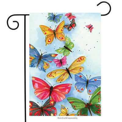 """Butterflies are Free Spring Garden Flag Butterfly Briarwood Lane 12.5"""" x 18"""""""