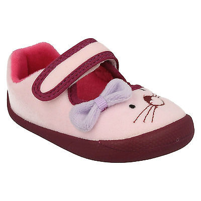 Clarks Girls First Doodles Shilo Candy Indoor Warm Winter House Slippers Shoes