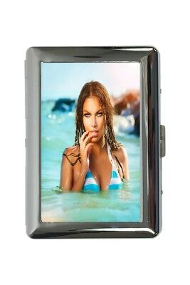 cigarette case tin Pin Up Adult Art sexy Babe Print