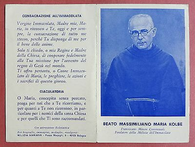 Santino Holy Card libretto: Beato Massimiliano Maria Kolbe