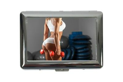 cigarette case tin Pin Up Adult Art sexy workout Print