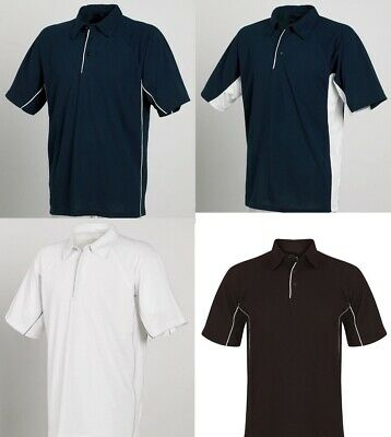 Men's Black Navy or White Polo Shirt Work Wear Team Wear Small-2X-Large TL65