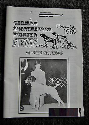 "German Shorthaired Pointer - "" News "" Magazine - December 1989 - Slightly Used"