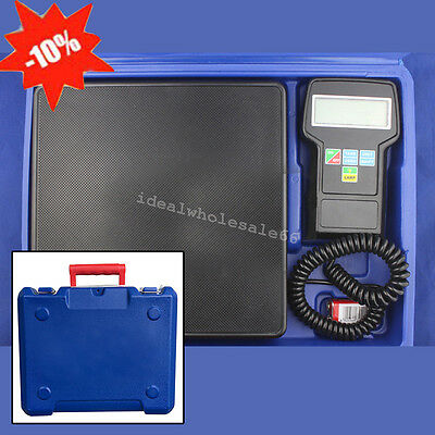 Digital Electronic Refrigerant Charging Scale 220 lbs for HVAC W/ Case 223X223mm