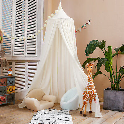 LoveTree Princess Canopy Kids Indoor Castle Play Tent Round Lace Bed Net White