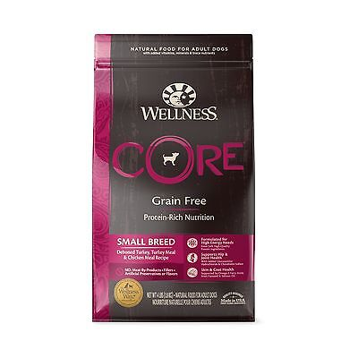 Wellness CORE Natural Dry Grain Free Small Breed Dog Food Turkey & Chicken 4-...