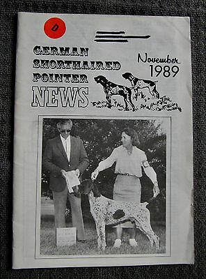 "German Shorthaired Pointer - "" News "" Magazine - November 1989 - Slightly Used"