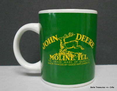 John Deere Coffee Mug Cup Green Tractor Moline, Ill by Gibson