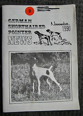 "German Shorthaired Pointer - "" News "" Magazine - November 1990 - Slightly Used"