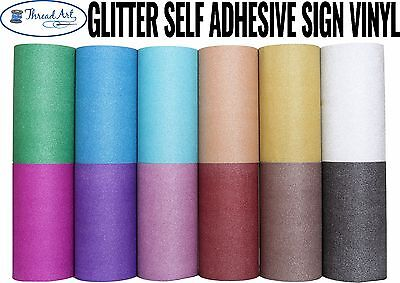 "12"" Glitter Self Adhesive Sign Vinyl By The Yd, 12 Colors Craft Cricut Cutter"
