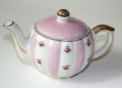 Vintage Gibsons Staffordshire England Teapot Shabby Chic pink and roses