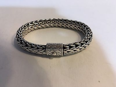 John Hardy Classic Wheat Chain Bracelet 10mm Sterling 8.0""
