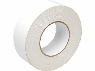 White Fabric Extra Sticky Tape 50m x 48mm Roll Fibre Duck Duct Waterproof Cloth