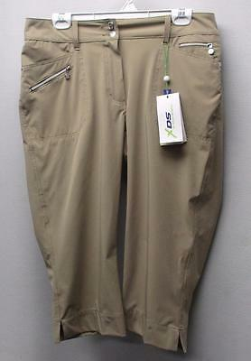New Ladies Size US 12 Daily Sports Miracle Pro Stretch Golf Capris Dark Sand