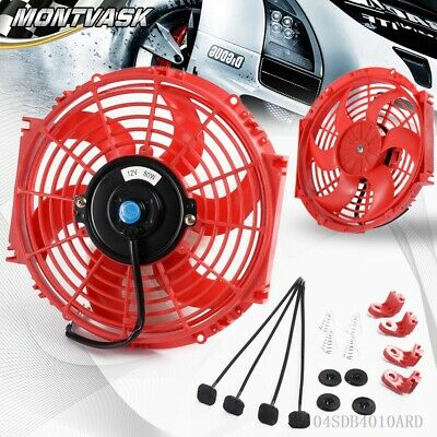 "10"" Inch Universal 12v Pull/push Car Radiator Engine Cooling Fan+Mounting"
