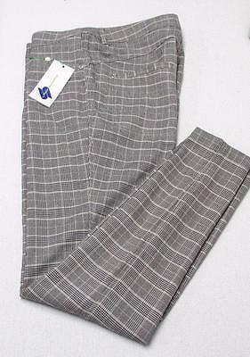 New Ladies Size US 14 Daily Sports striped checked golf pants 38/32