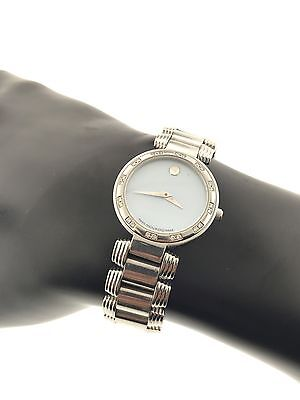 Women's Movado Serenade Diamond Baby Blue Mother of Pearl Watch # 84 A1 1844 S